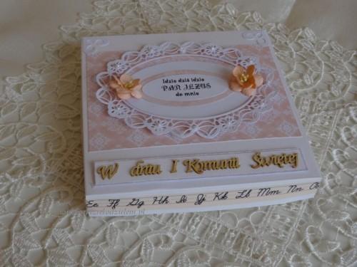 DSC02330 Pamiątka - I Komunia święta karteczka w pudełeczku