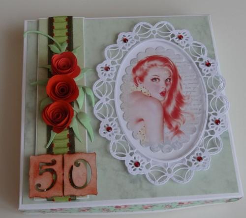 DSC02670karteczka ręcznie robiona 50 urodziny