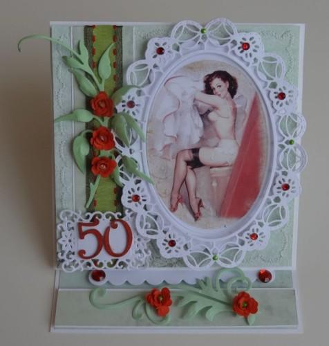 DSC02672karteczka ręcznie robiona 50 urodziny