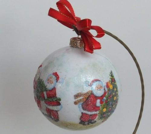 DSCF1527bombka, kula,święta , Boże Narodzenie, decoupage