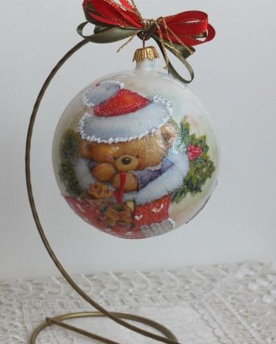 DSCF1534bombka, kula,święta , Boże Narodzenie, decoupage