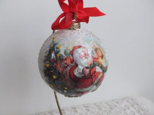 DSCF1555bombka, kula,święta , Boże Narodzenie, decoupage