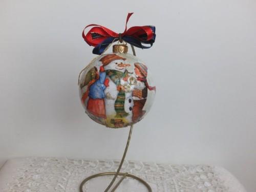 Dbombka, kula,święta , Boże Narodzenie, decoupageSCF1543