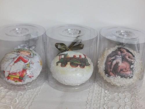 Dbombka, kula,święta , Boże Narodzenie, decoupageSCiii