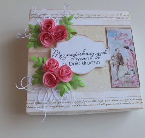 Karteczka , życznia, ręcznie robiona, urodziny, imieniny