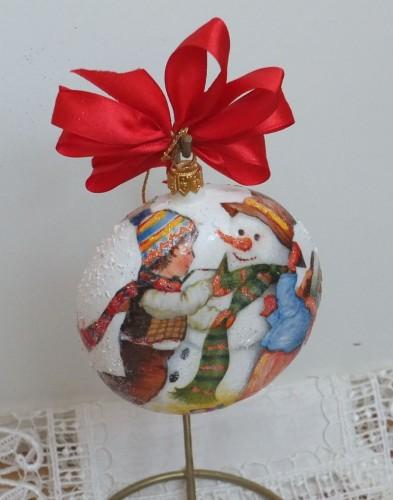 bombka, kula,święta , Boże Narodzenie, decoupage