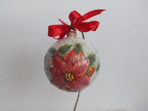 bombka, kula,święta , Boże Narodzenie, decoupage DSCF1548