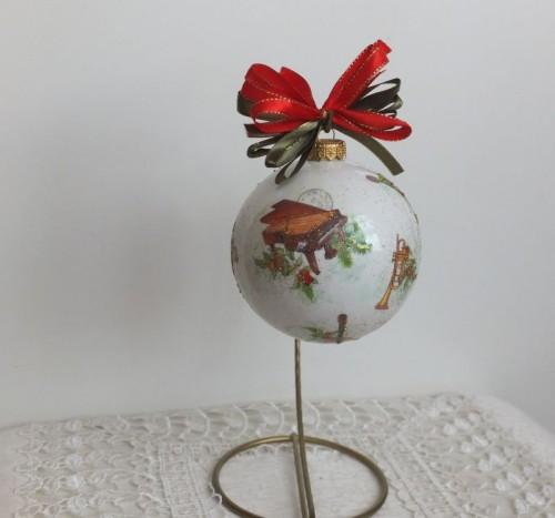 bombka, kula,święta , Boże Narodzenie, decoupageDSCF1535