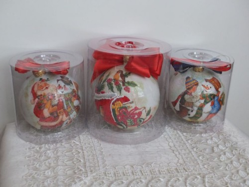 bombka, kula,święta , Boże Narodzenie, decoupageDSCF1547