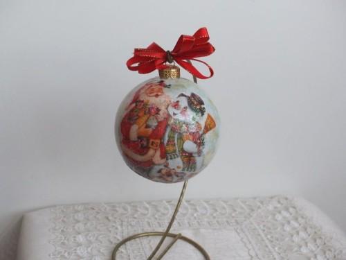 bombka, kula,święta , Boże Narodzenie, decoupageSCF1546