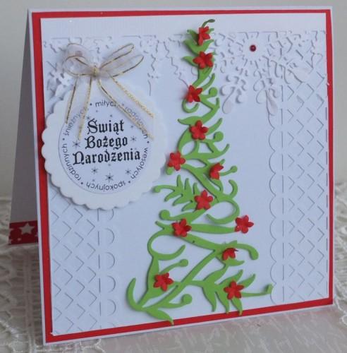 karteczka Boże Narodzenie, życzenia , ręcznie robiona   karteczki 081