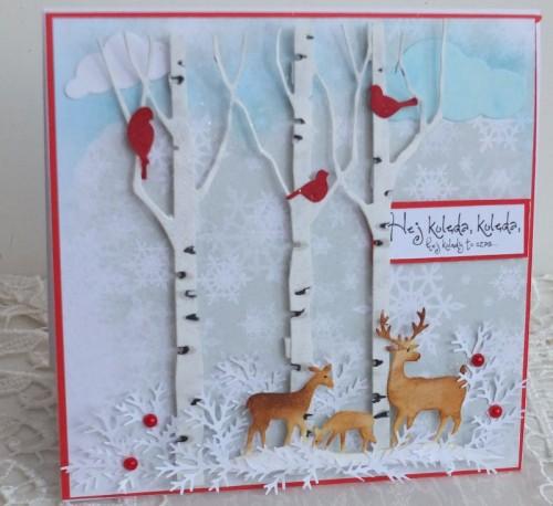 karteczka Boże Narodzenie, życzenia , ręcznie robiona karteczki 084