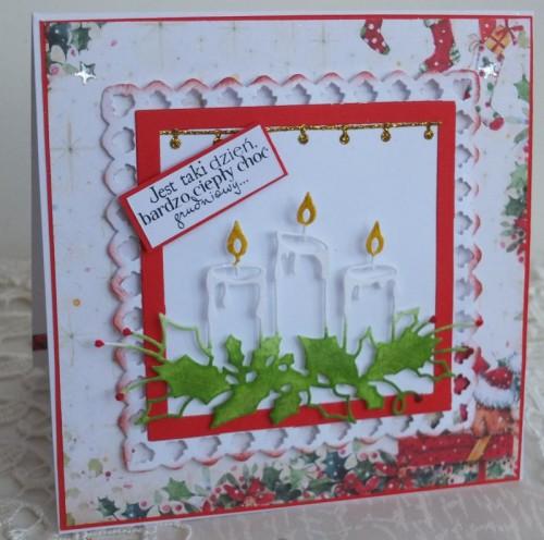 karteczka Boże Narodzenie, życzenia , ręcznie robiona  karteczki 086
