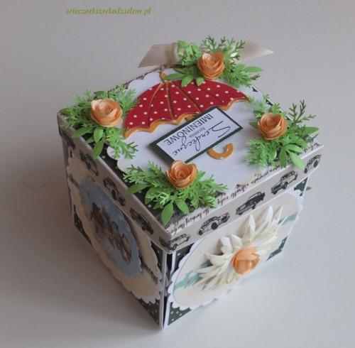 karteczki exploding box urodziny, imieniny, życzenia
