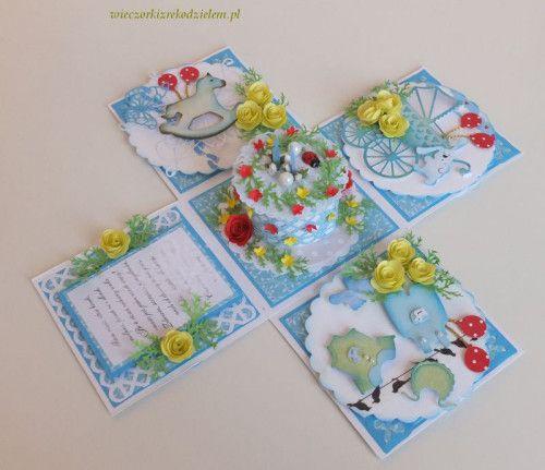 karteczki 036exploding box, urodziny 2 latka,