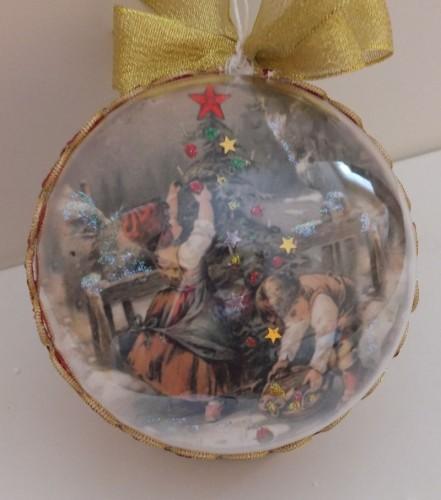 Bombka decoupage, święta Bożego Narodzenia803