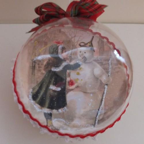 DBombka decoupage, święta Bożego Narodzenia8SCF1798