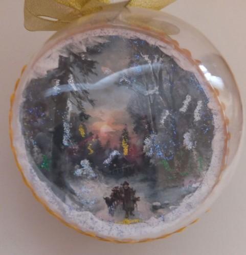 DSCF1785Bombka decoupage, święta Bożego Narodzenia8