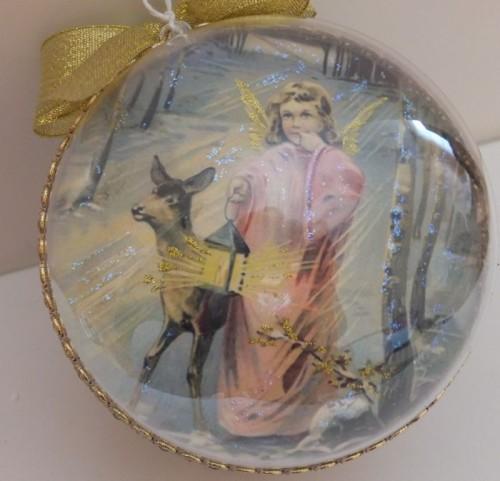DSCF1795Bombka decoupage, święta Bożego Narodzenia8