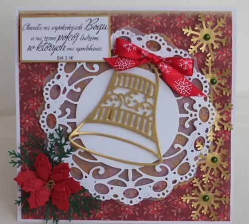 karteczka ręcznie robiona, święta, Boże Narodzenie