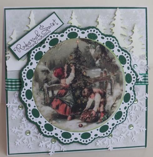 karteczka ręcznie robiona, święta, Boże Narodzenie002
