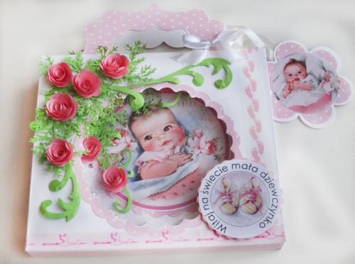 karteczka ręcznie robiona, narodziny , gratulaje życzenia