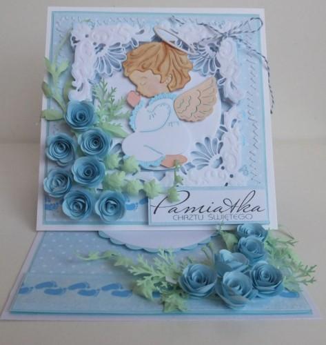 karteczki ręcznie robione, pamiątka chrztu świętego  003
