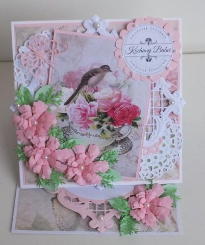 życzenia na Dzień Babci, Dzień Dziadka  karteczka ręcznie robionaDSCF2256