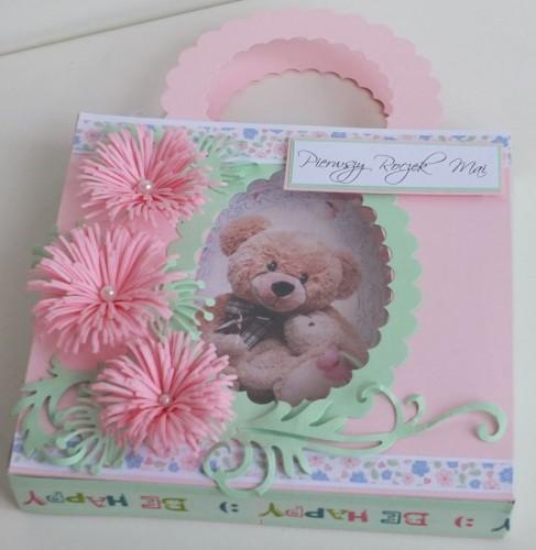 życzenia na Roczek  karteczka ręcznie robionaDSCF2250