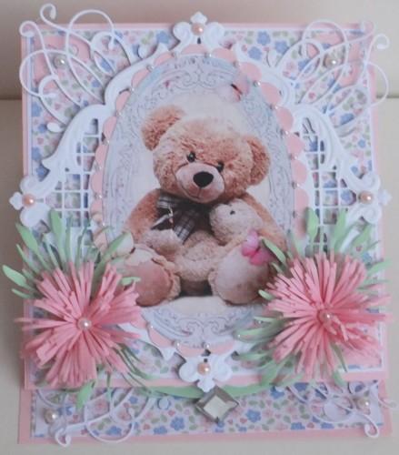 życzenia na Roczek  karteczka ręcznie robionaDSCF2251
