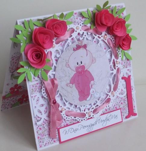 życzenia na Roczek  karteczka ręcznie robionaDSCF2259