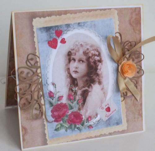 życzenia na Walentynki  karteczka ręcznie robionaDSCF2260