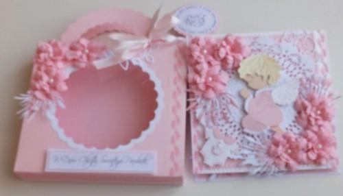Dchrzest, życzenia , karteczka ręcznie robionaSCF2036