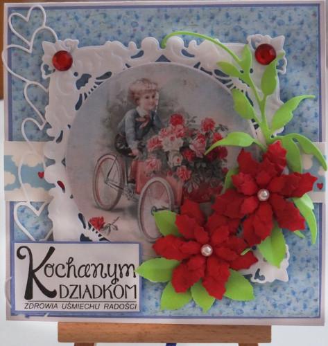 Dzień Babci, Dzień Dziadka, życzenia , karteczka ręcznie robionaDSCF2051