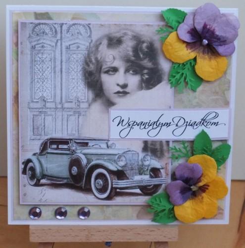 Dzień Babci, Dzień Dziadka, życzenia, karteczka ręcznie robionaDSCF2190