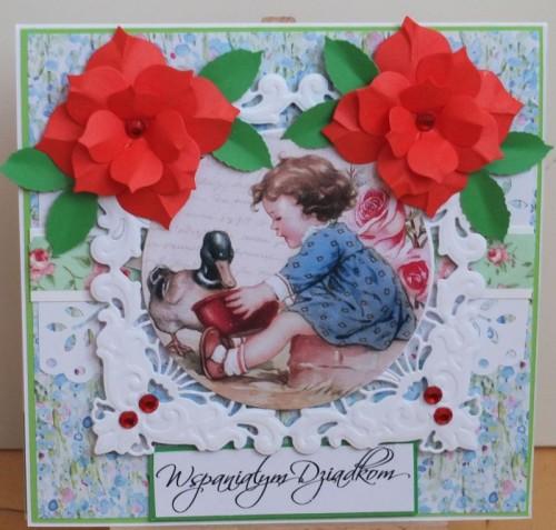 Dzień Babci, Dzień Dziadka, karteczka ręcznie robiona, życzenia DSCF2179