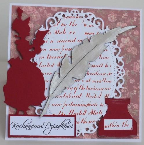 Dzień Babci, dziadka, życzenia, karteczka recznie robionaDSCF2208