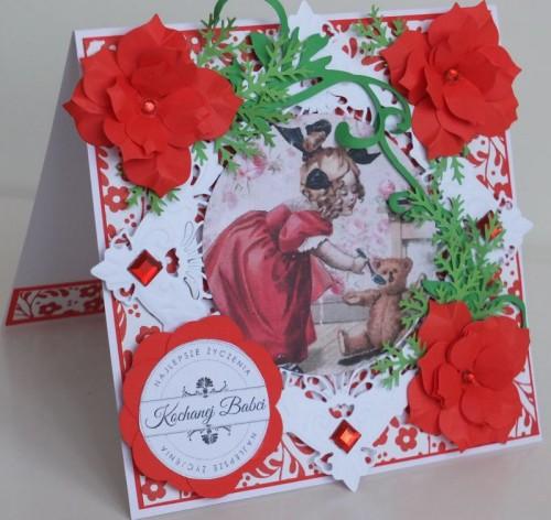 Dzień Babci, dziadka, życzenia, karteczka recznie robionaDSCF2212