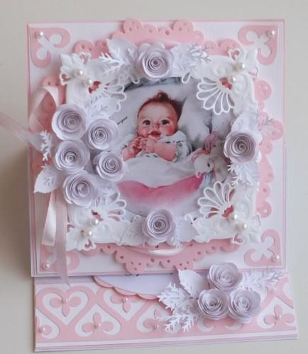 chrzest, życzenia , karteczka ręcznie robionaF2026