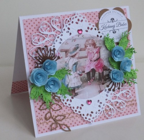 karteczka ręcznie robiona na Dzień Babci, Dzień DziadkaDSCF2220