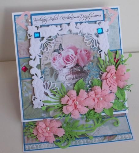 karteczka ręcznie robiona na Dzień Babci, Dzień DziadkaDSCF2236