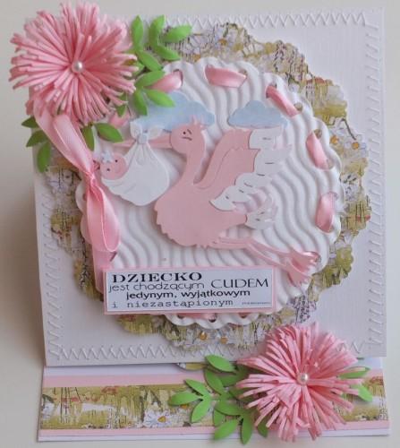 narodziny, gratulacje, podziękowania, życzenia , karteczka ręcznie robionaDSCF2030