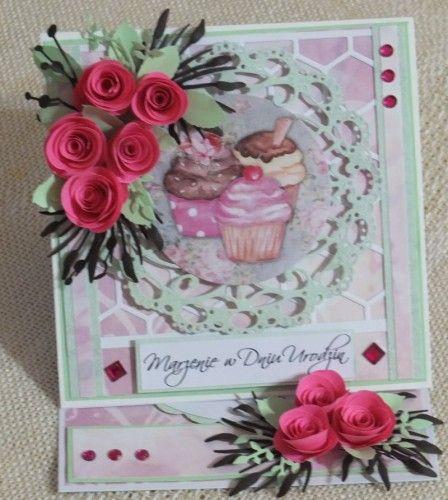 Urodziny, karteczka recznie robionaF2023