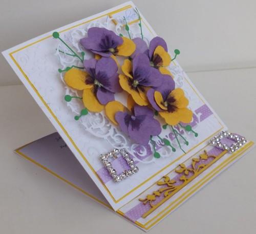 Urodziny, imieniny, kartka ręcznie robionaDSCF2294