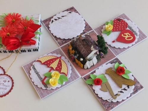 DSCF2475urodzinowa karteczka ręcznie robiona box