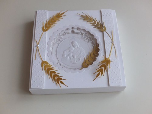 Pierwsza komunia swięta pamiątka karteczka ręcznie robiona