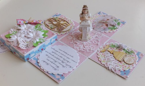 Pamiątka Pierwszej Komnunii Świętej, karteczka ręcznie robionaCDSCF2569
