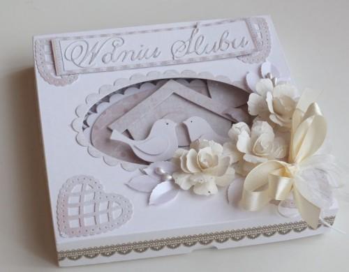 Karteczka ręcznie robiona, ślub, życzenia, ptaszkiDSCF2817