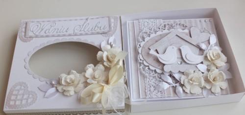 Karteczka ręcznie robiona, ślub, życzenia, ptaszki  DSCF2819