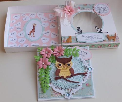 Karteczka, podziękowanie dla nauczycieli, sizzix, Joy, memory box, wykrojnikDSCF2891